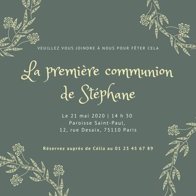 Invitation à une première communion