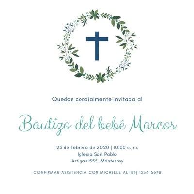 Invitación para bautizo
