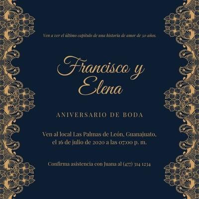 Invitación para bodas de oro