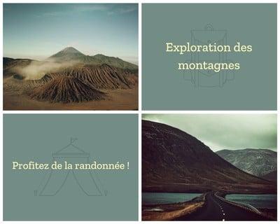 Montage photo de voyage