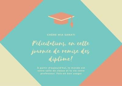 Carte de remise des diplômes
