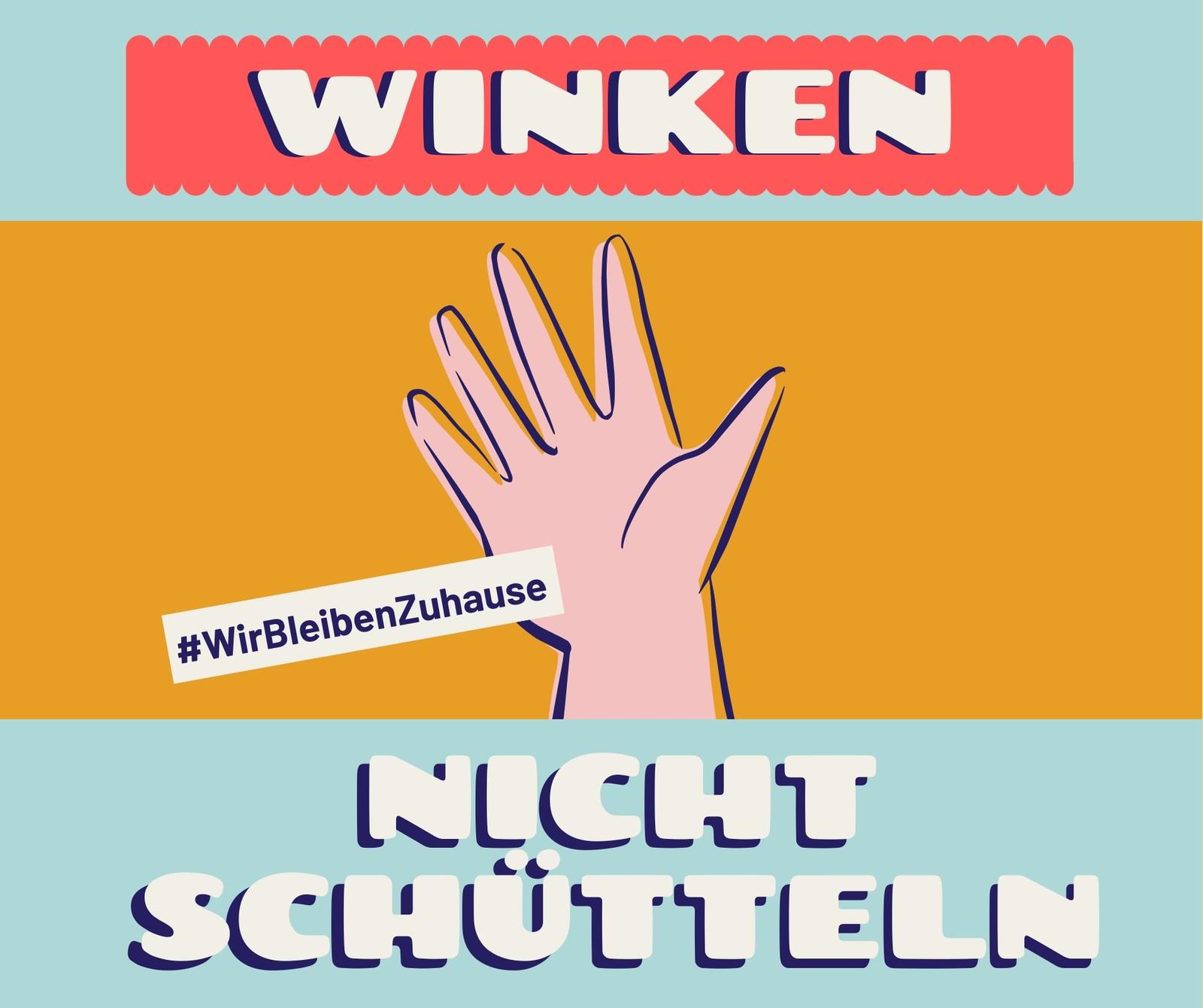 Oranger Winken & Gesundheit Facebook Post