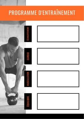 Planning d'entraînement physique