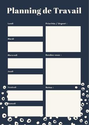 Planning de programme de travail