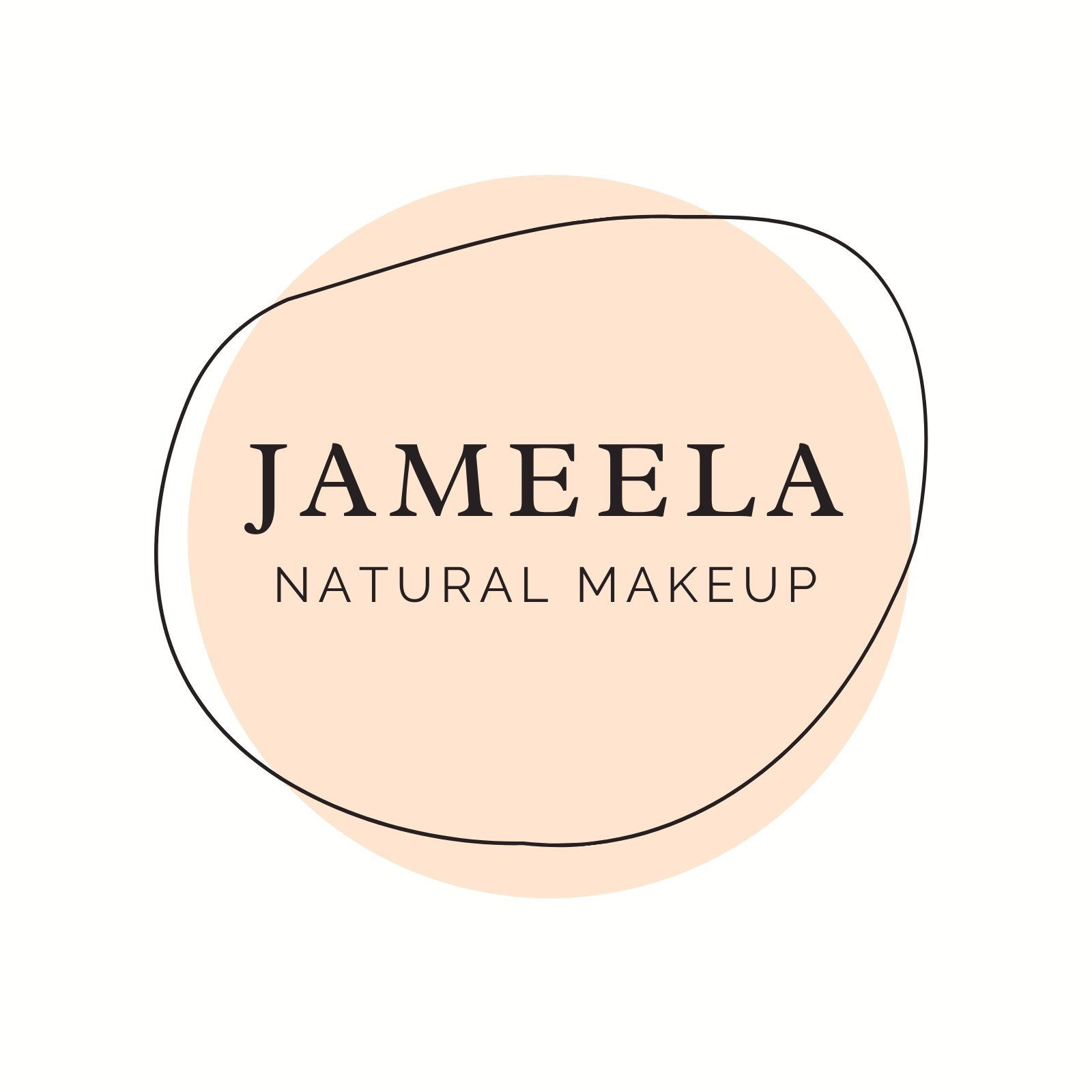 Cream and Black Natural Makeup Beauty Logo