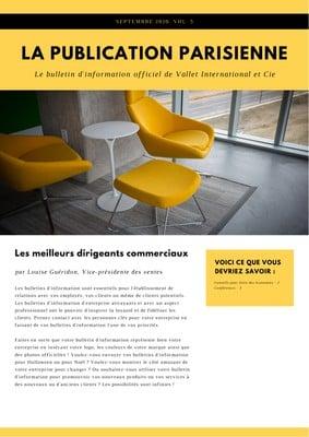 Newsletter d'entreprise
