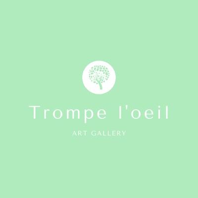 Einfaches Kunst- & Design-Logo mit grünem Baum