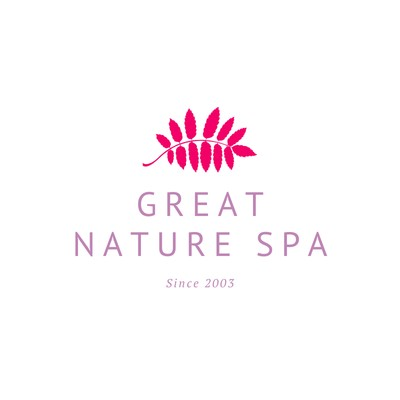 White Purple Fern Leaves Facial & Spa Beauty Logo