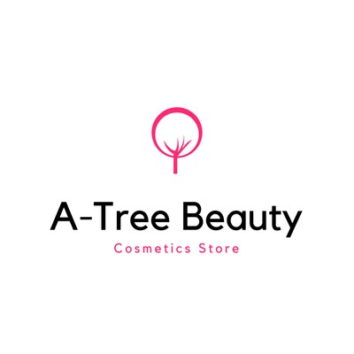Black and Pink Tree Heart Beauty Logo
