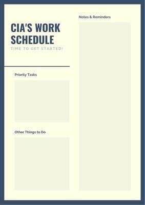 Planner di gestione lavoro