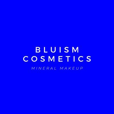 Blue Minimalist Cosmetics Beauty Logo