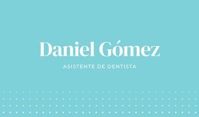 Tarjeta de presentación para dentistas