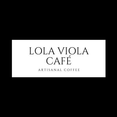 Schwarz-weißes modernes Café-Logo mit Rahmen Lola