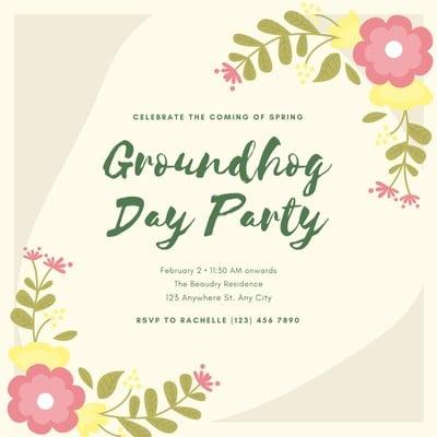 Groundhog Day Invitation