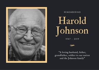 Obituary Card