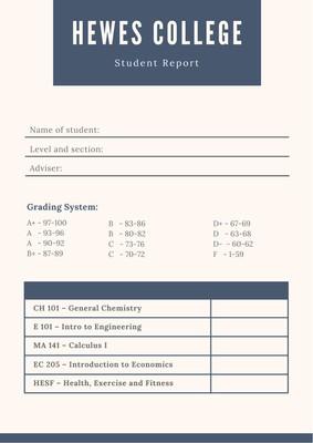 College Report Card