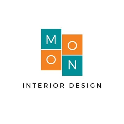 Teal and Orange Boxes Art & Design Logo