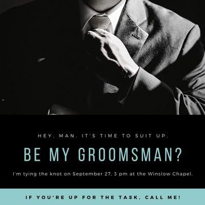 Groomsman Invitation