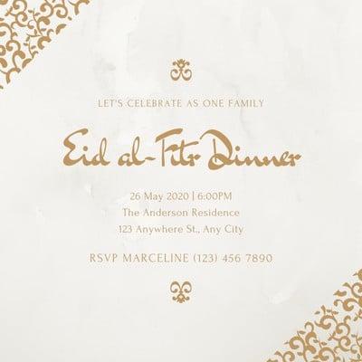 Eid Al-Fitr Invitation