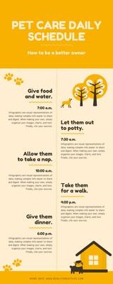Orange Pet Schedule Timeline Infographic