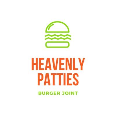 Buntes Restaurant-Logo mit Burger-Symbol