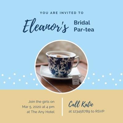 Bridal Tea Invitations