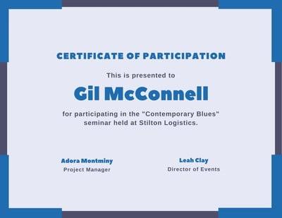 Participation Certificates