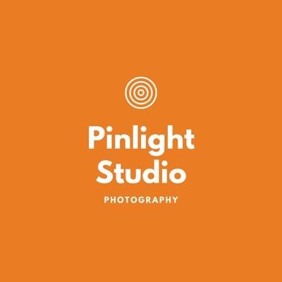 Orangefarbenes modernes Kunst- & Design-Logo Fotografie