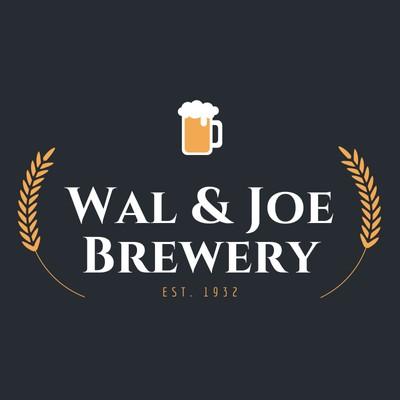 Dunkelgraues Brauerei-Logo mit Bierkrug