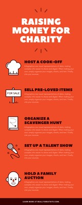 Red Fun Ideas for Charity Infographic