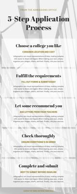 University Application Process Infographic