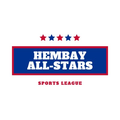 Red and Blue Stars Sports Logo