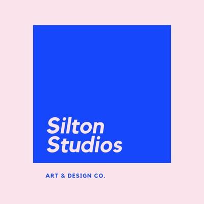 Rosa-blaues geometrisches Kunst- & Design-Logo