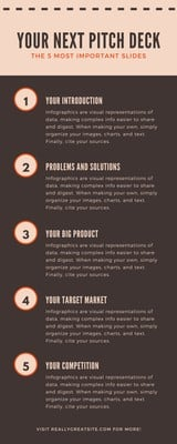 Brown Pitch Deck Slides Business Infographic