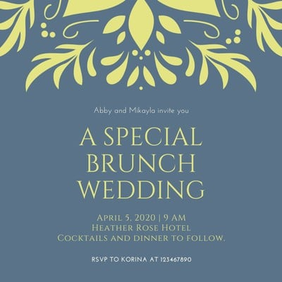 Same Sex Wedding Invitation