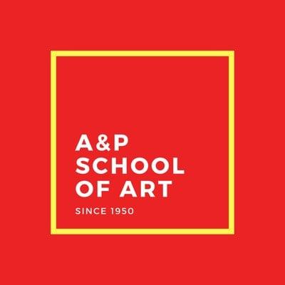 Rotes Logo mit gelbem Rand Bildungswesen