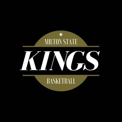 Black and Gold Ball Icon Basketball Logo