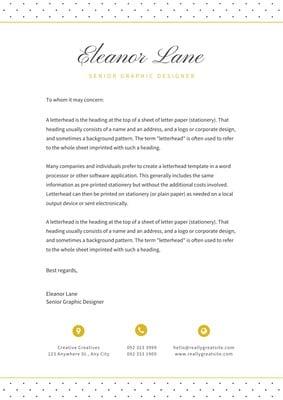 Graphic Design Letterheads