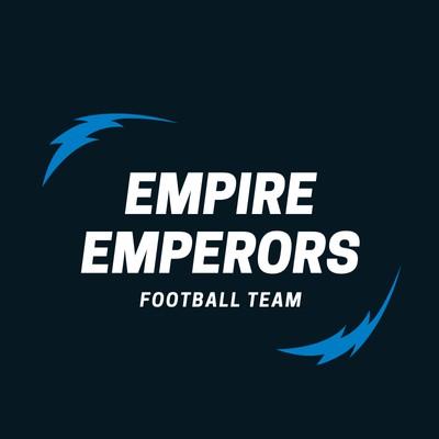 Black and Blue Empire Lightning American Football Logo