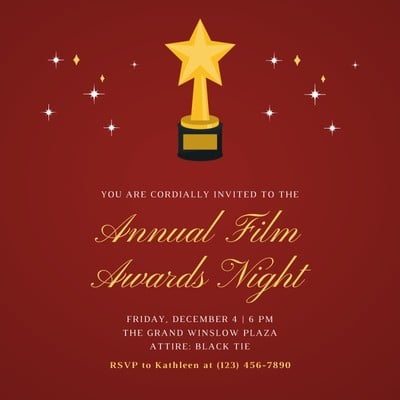 Awards Night Invitation