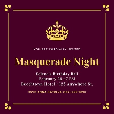 Masquerade Invitations