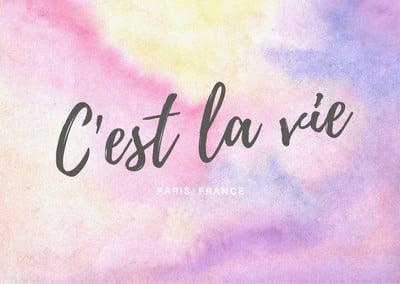 Carte postale française