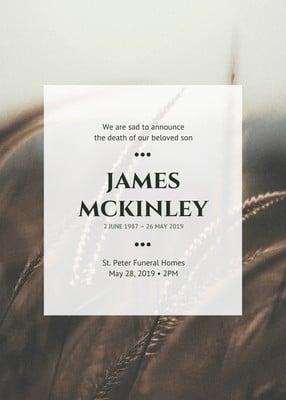 Obituary Announcement