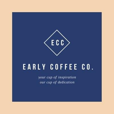 Blue and Cream Diamond Cafe Logo