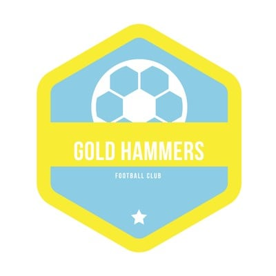 Yellow Soccer Club Logo