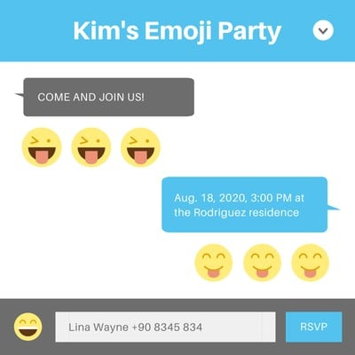 Emoji Party Invitation