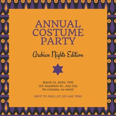 Arabian Nights Invitation
