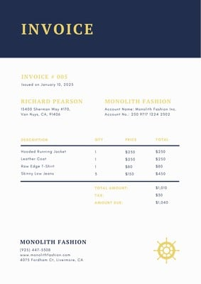 Commercial Invoices