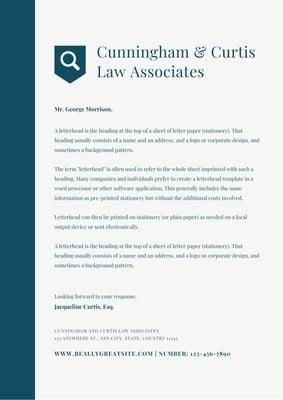 Law Firm Letterheads