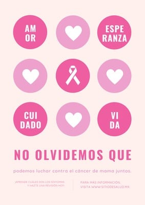 Póster de concientización sobre el cáncer de mama